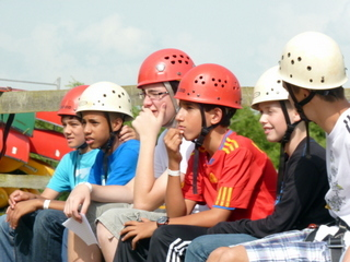 Antler Languages students abseiling at Rock UK, Irthlingborough