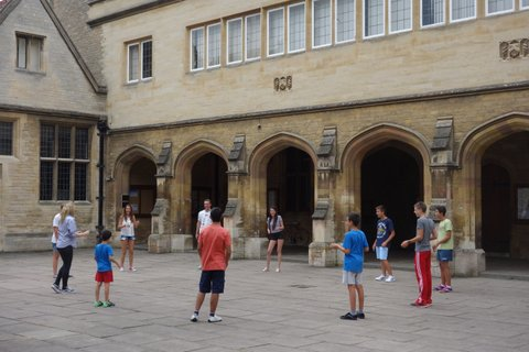 Antler Languages Drama Workshop in The Cloisters at Oundle School